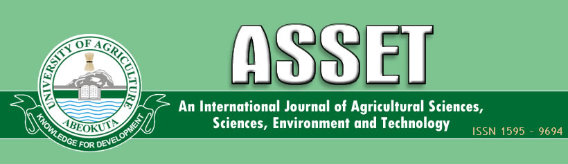 An International Journal of Agricultural Sceiences, Sciences, Environment and Technology